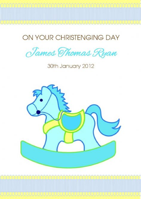 Personalised Boy Christening Card Design 6